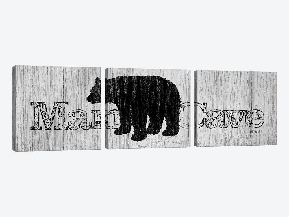 Mancave Bear by Kate Sherrill 3-piece Art Print