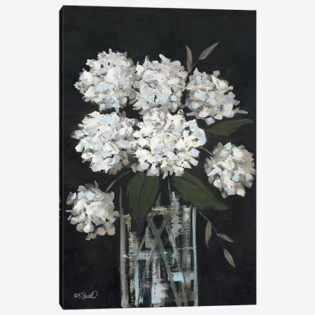 White Hydrangeas I Canvas Print #SRL34} by Kate Sherrill Canvas Art Print