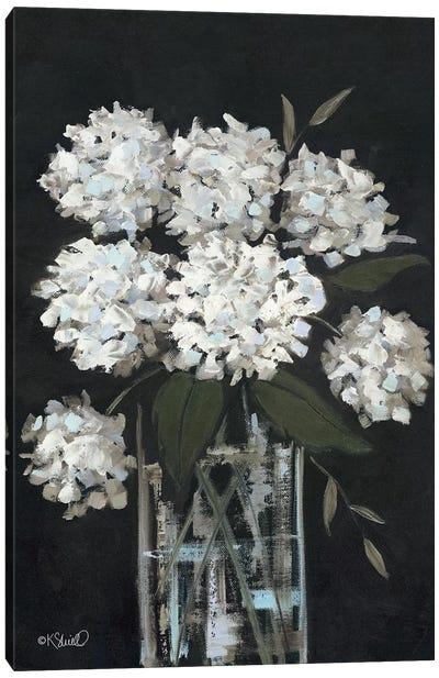 White Hydrangeas I Canvas Art Print