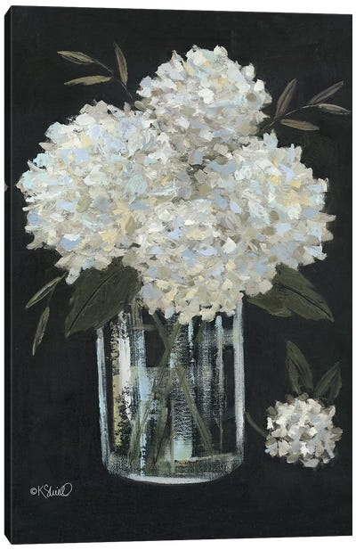 White Hydrangeas II Canvas Art Print