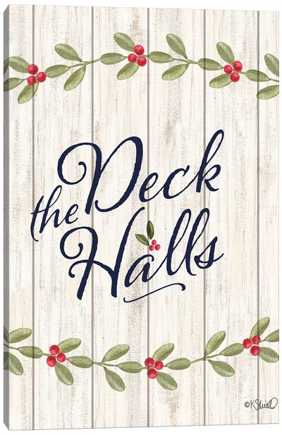 Deck The Halls E Canvas Art Print