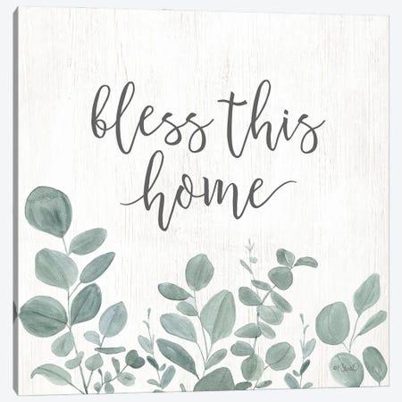 Bless This Home Eucalyptus Canvas Print #SRL37} by Kate Sherrill Art Print