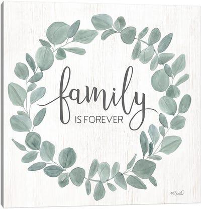 Family Forever Eucalyptus Wreath Canvas Art Print