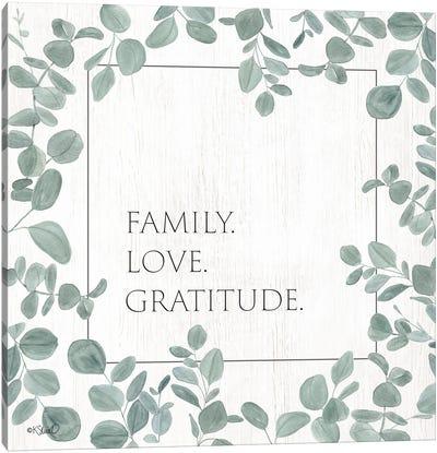 Family Love Gratitude Eucalyptus Canvas Art Print