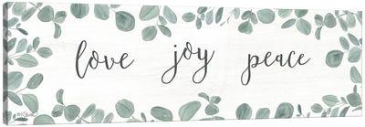 Love-Joy-Peace Eucalyptus Canvas Art Print