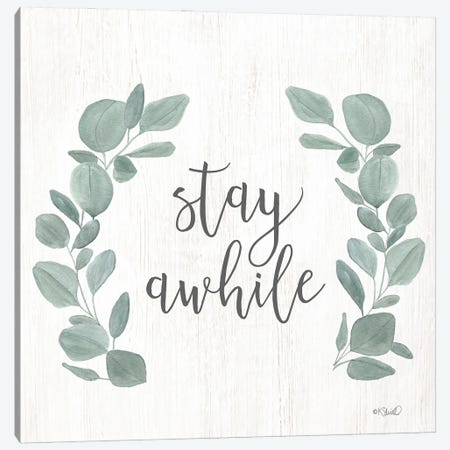 Stay Awhile Eucalyptus Canvas Print #SRL45} by Kate Sherrill Canvas Art
