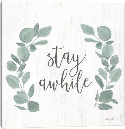 Stay Awhile Eucalyptus Canvas Art Print