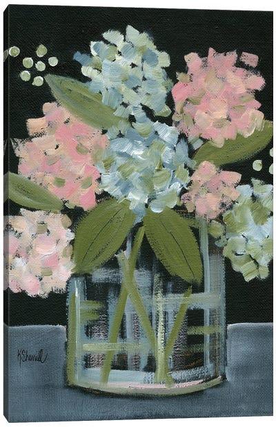 Hydrangea Bouquet Canvas Art Print