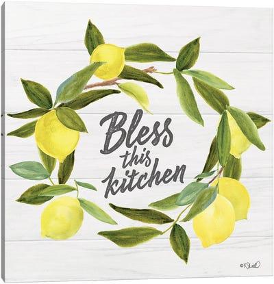 Bless This Kitchen Canvas Art Print