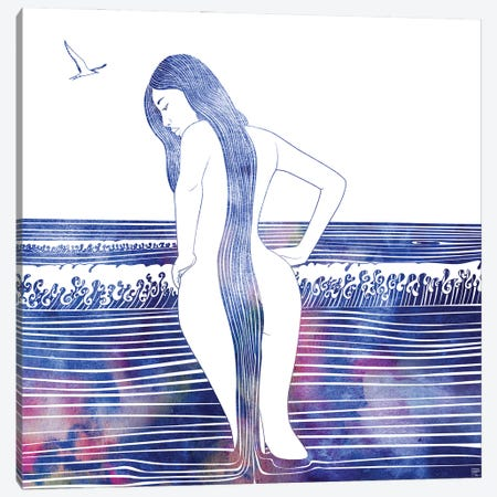 Eunike Canvas Print #SRN100} by sirenarts Canvas Art
