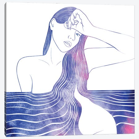 Nereid LI Canvas Print #SRN107} by sirenarts Canvas Print