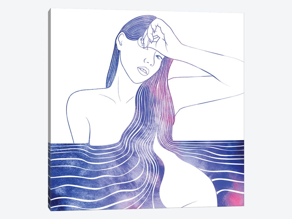 Nereid LI by sirenarts 1-piece Canvas Art Print