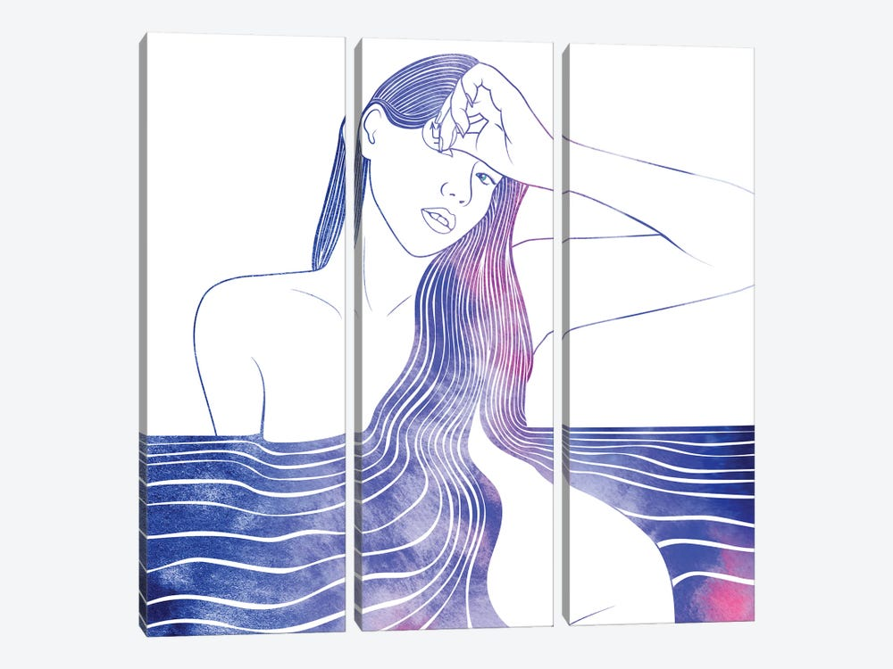 Nereid LI by sirenarts 3-piece Art Print