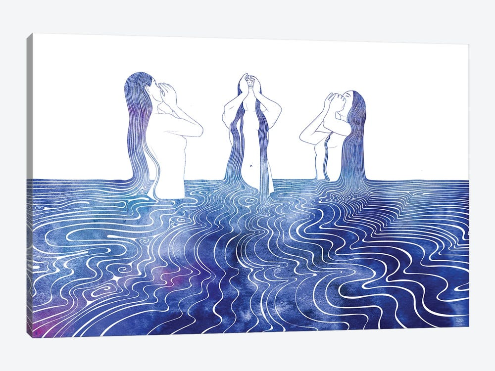 Sirens Song by sirenarts 1-piece Canvas Print