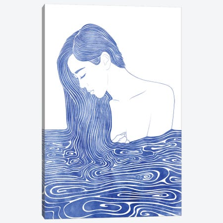 Nereid XLVII 3-Piece Canvas #SRN10} by sirenarts Canvas Art