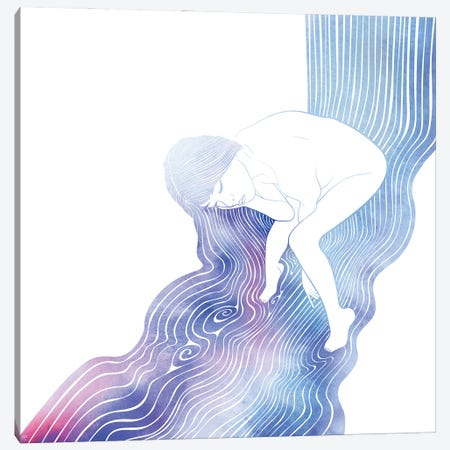 Nereid LII Canvas Print #SRN110} by sirenarts Art Print