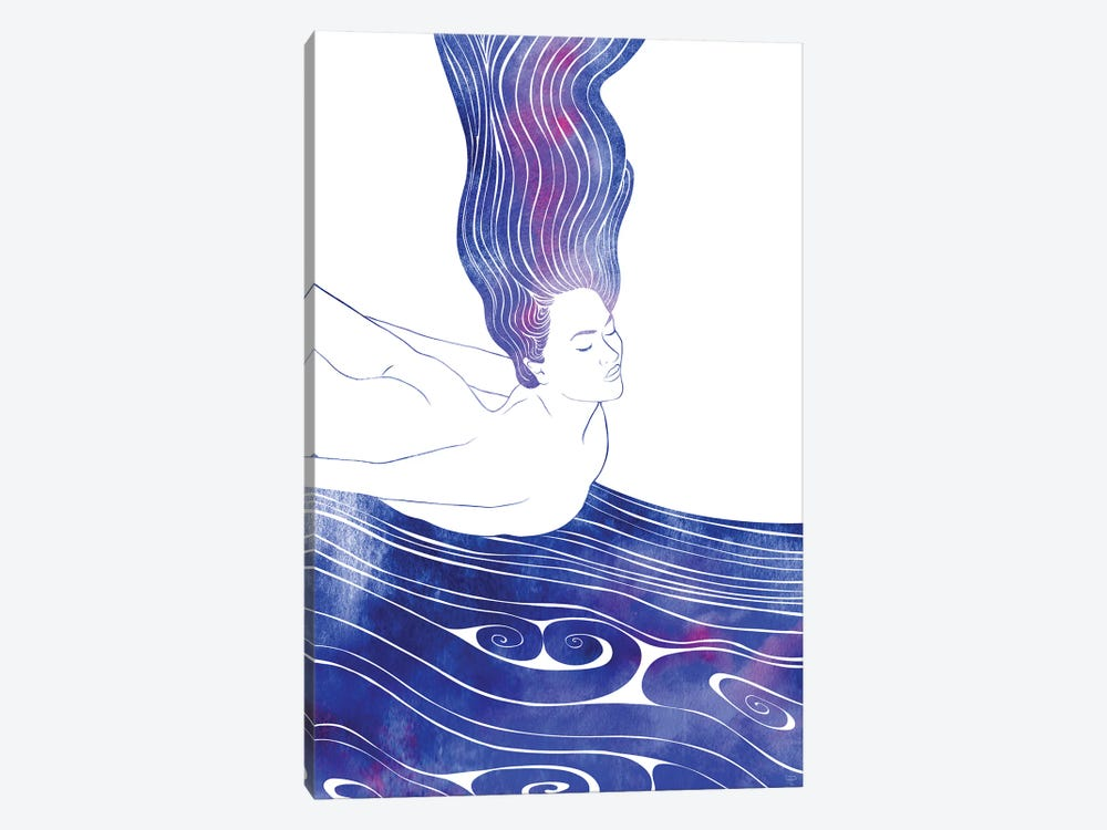Nereid LIV by sirenarts 1-piece Canvas Print