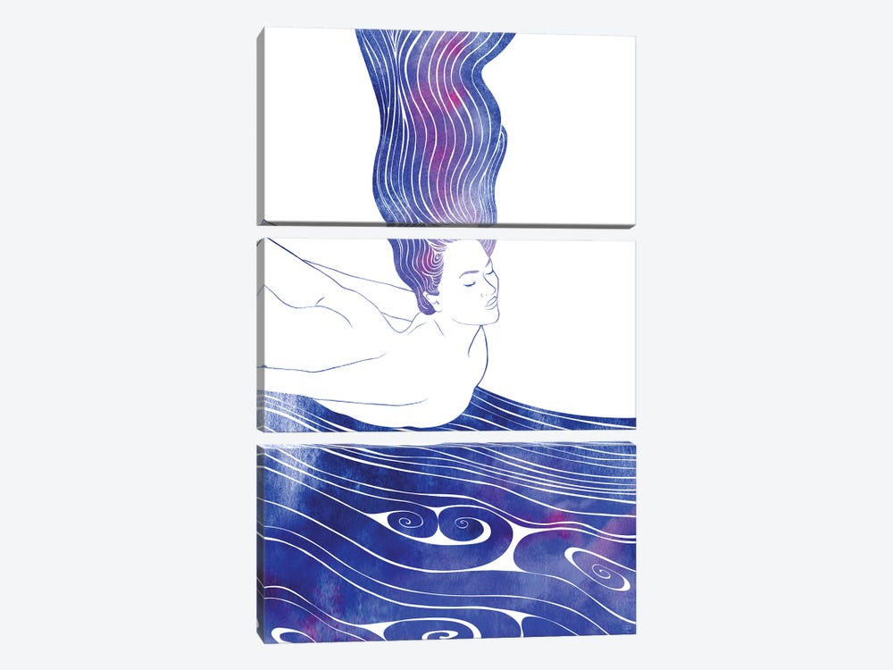 Nereid LIV by sirenarts 3-piece Art Print