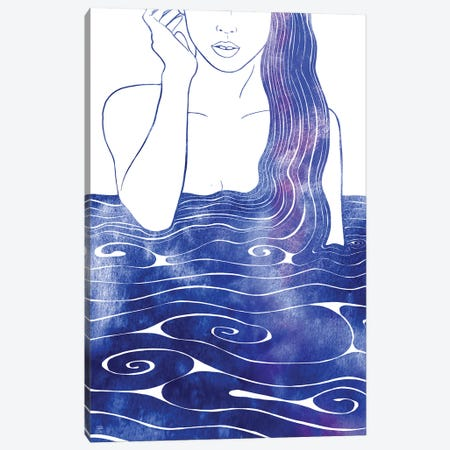 Nereid LVII Canvas Print #SRN115} by sirenarts Canvas Wall Art