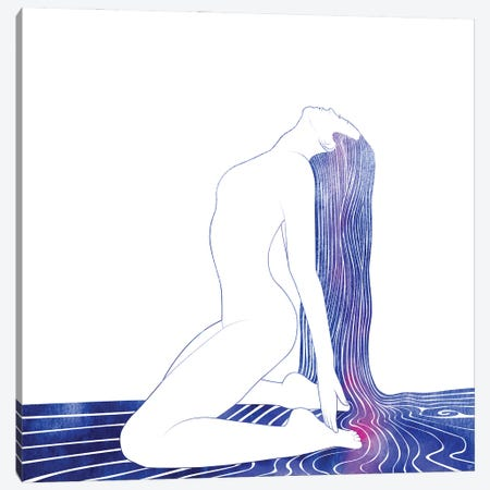 Nereid LV Canvas Print #SRN117} by sirenarts Canvas Artwork