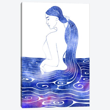 Nereid LX Canvas Print #SRN119} by sirenarts Art Print