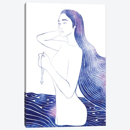 Nereid LXII Canvas Print #SRN120} by sirenarts Canvas Art