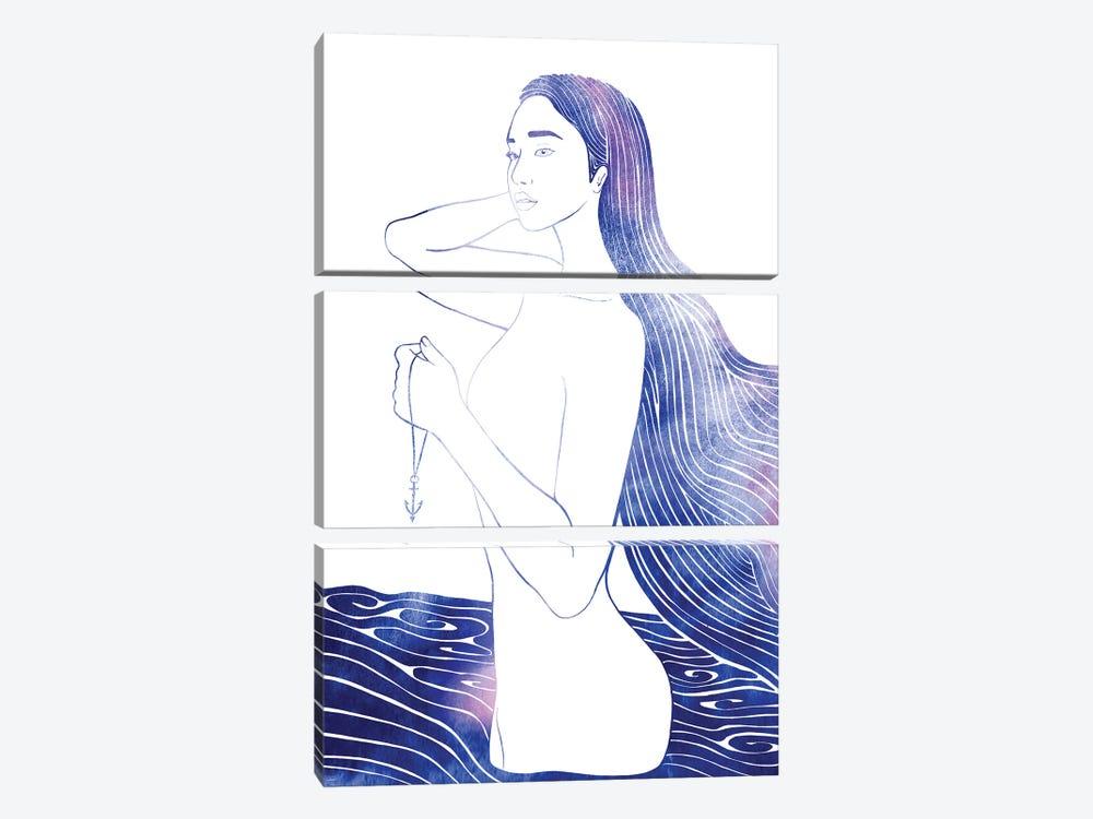 Nereid LXII by sirenarts 3-piece Canvas Wall Art