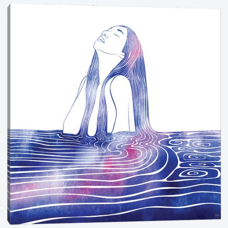 Nereid LXV Canvas Print #SRN122} by sirenarts Canvas Art