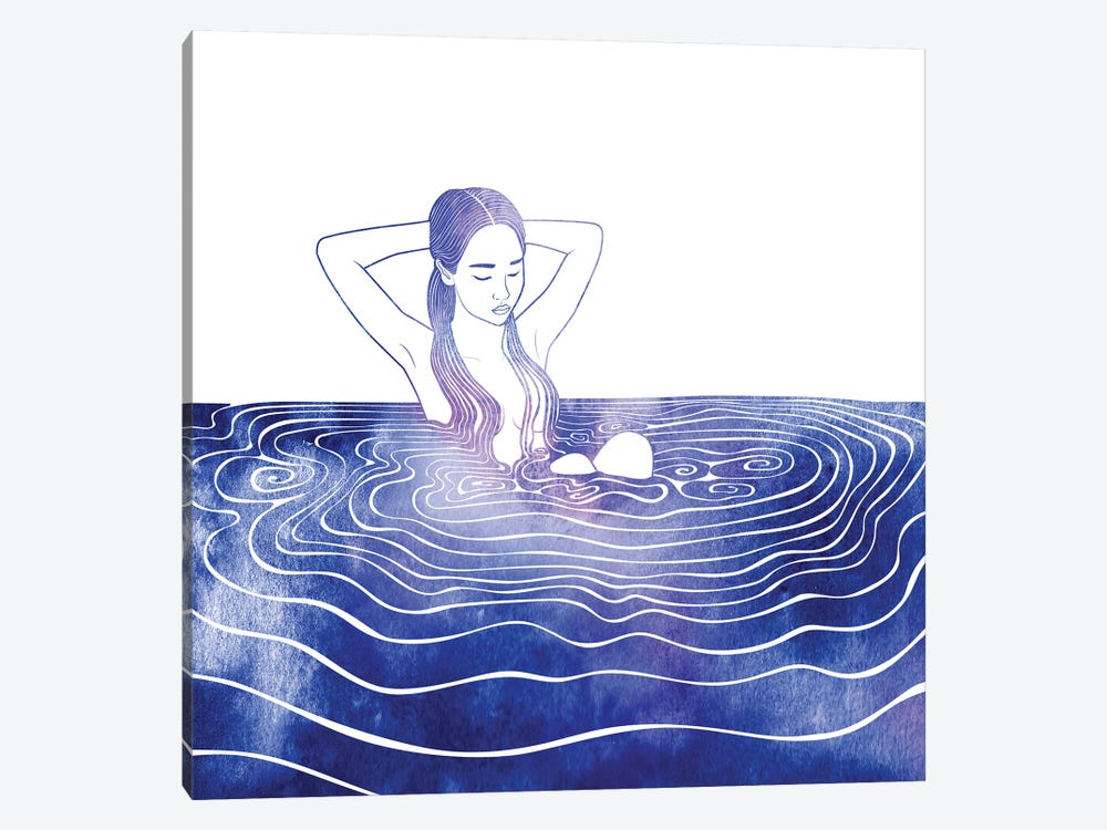 NEREID LXXVI by sirenarts 1-piece Canvas Wall Art