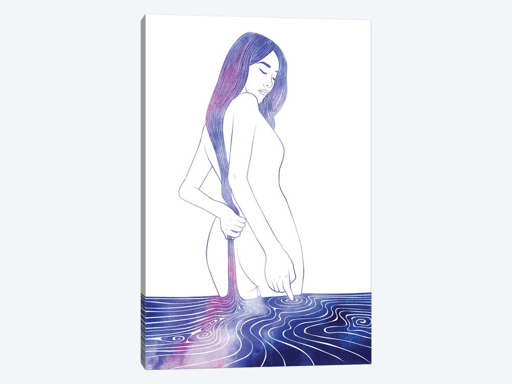Nereid LXXVII by sirenarts 1-piece Art Print