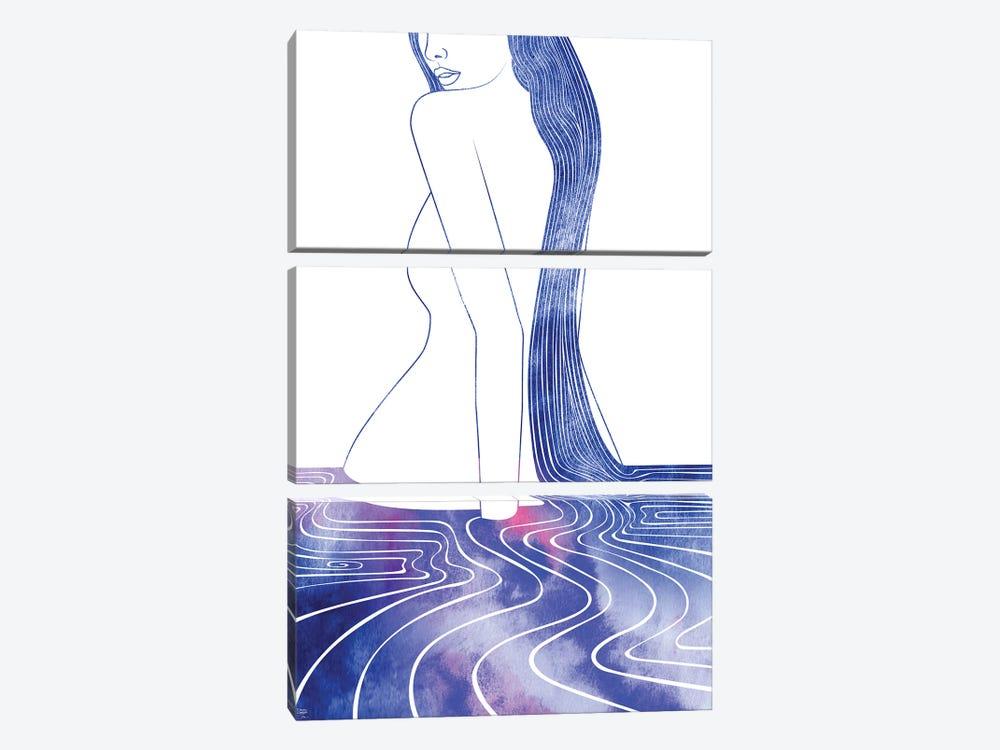 Nereid LXXVIII by sirenarts 3-piece Canvas Wall Art