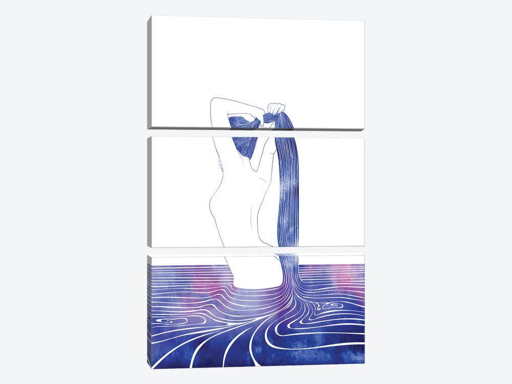 Nereid LXXIX by sirenarts 3-piece Canvas Print