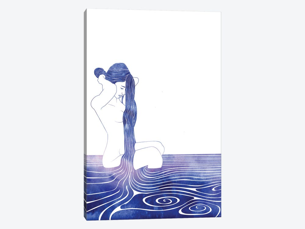 Nereid LXXX by sirenarts 1-piece Canvas Art