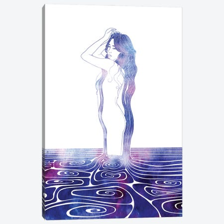 Nereid LXXXII Canvas Print #SRN139} by sirenarts Art Print