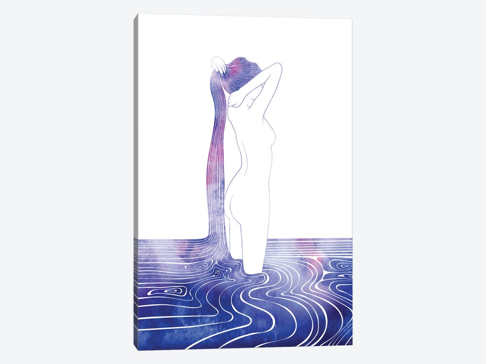 Nereid LXXXIII by sirenarts 1-piece Canvas Wall Art