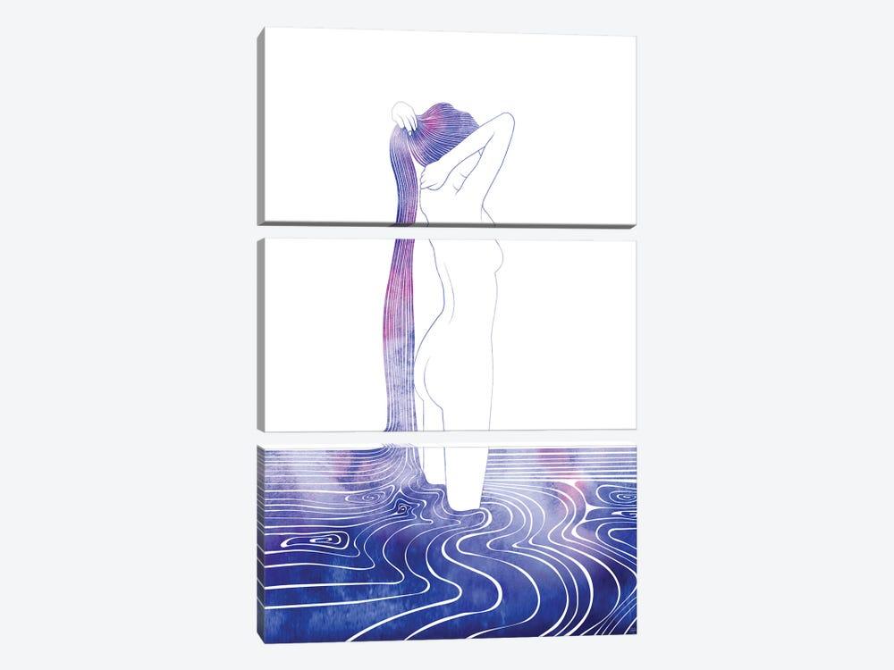 Nereid LXXXIII by sirenarts 3-piece Canvas Wall Art