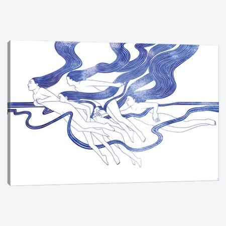 Five Nereids Canvas Print #SRN142} by sirenarts Canvas Wall Art
