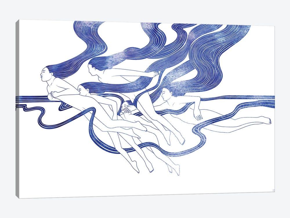 Five Nereids by sirenarts 1-piece Canvas Wall Art