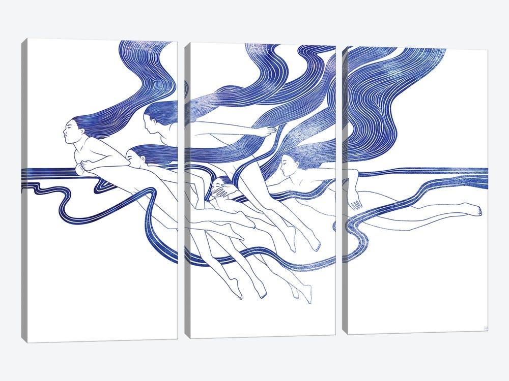 Five Nereids by sirenarts 3-piece Canvas Artwork