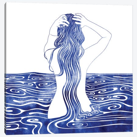 Nereid XI 3-Piece Canvas #SRN15} by sirenarts Art Print