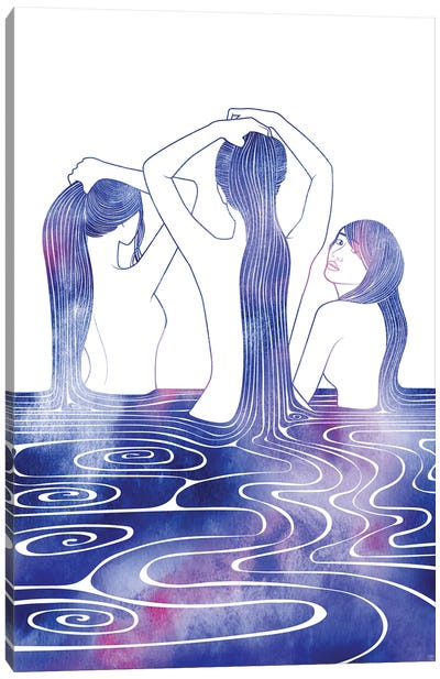 Three Sirens Canvas Art Print