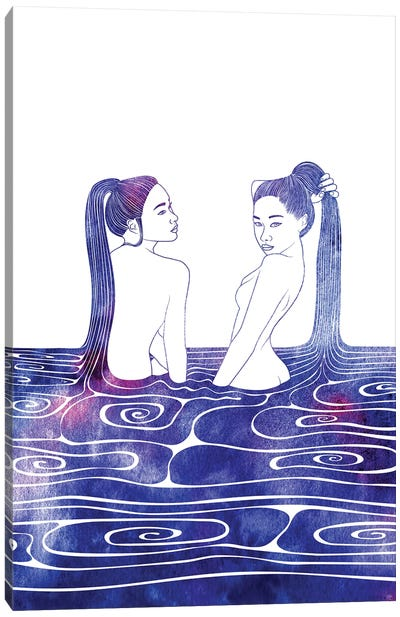 Two Nereids Canvas Art Print
