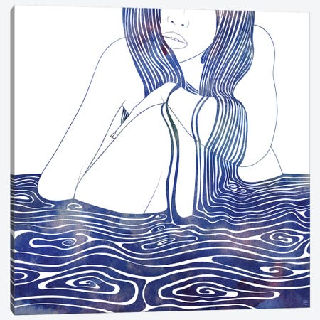 Nereid XLII 3-Piece Canvas #SRN19} by sirenarts Canvas Wall Art
