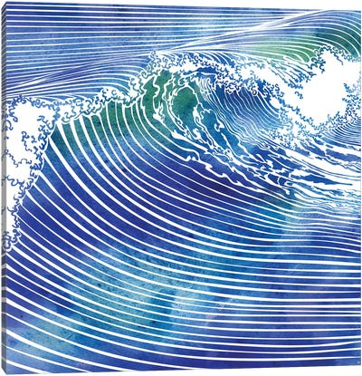 Atlantic Waves Canvas Art Print
