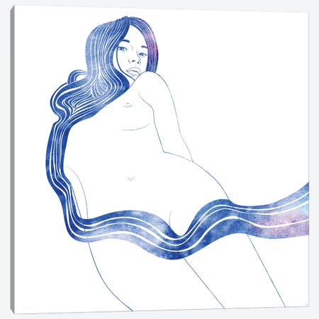 Nereid XVII 3-Piece Canvas #SRN21} by sirenarts Canvas Art Print
