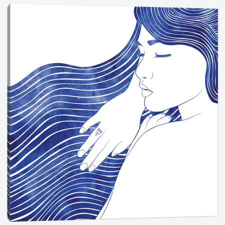 Nereid XXV 3-Piece Canvas #SRN25} by sirenarts Canvas Wall Art