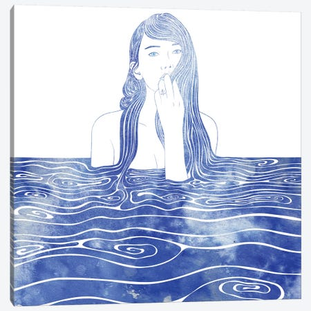 Nereid XXXVI Canvas Print #SRN28} by sirenarts Art Print