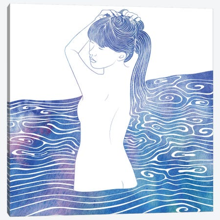 Nereid XXXVIII 3-Piece Canvas #SRN29} by sirenarts Art Print