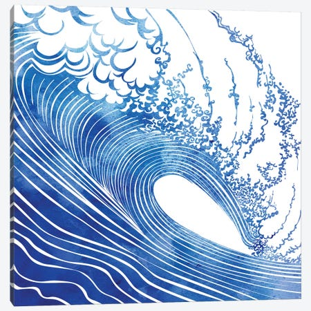 Big Wave Canvas Print #SRN2} by sirenarts Canvas Wall Art