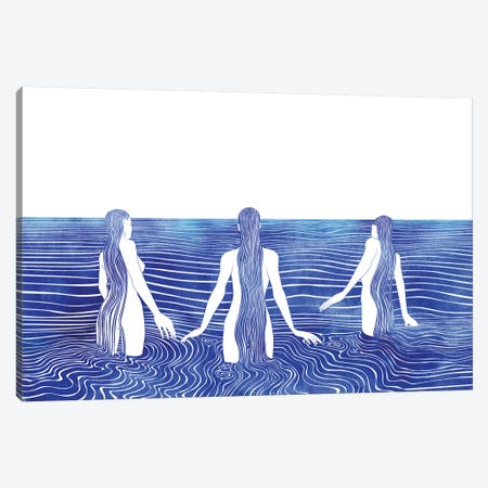 Sirens Call 3-Piece Canvas #SRN32} by sirenarts Canvas Art